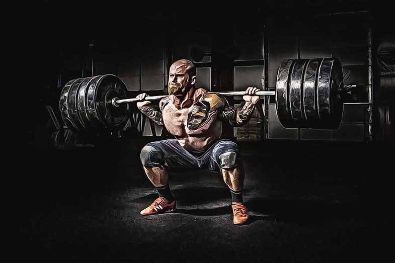 entreno duro con mucho peso